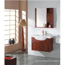 Vaidade de banheiro clássico com único pia