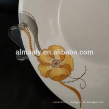 Фарфоровая глубокая тарелка, керамическая тарелка