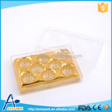 Promotion luxury clear plastic chocolate packaging boxes