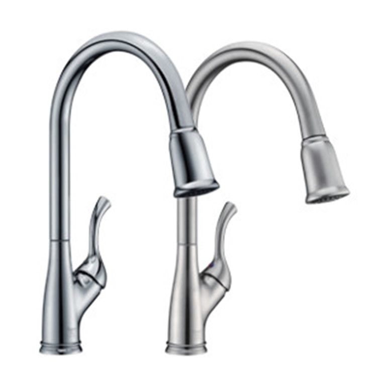 Low Arc Pull Down Kitchen Faucet