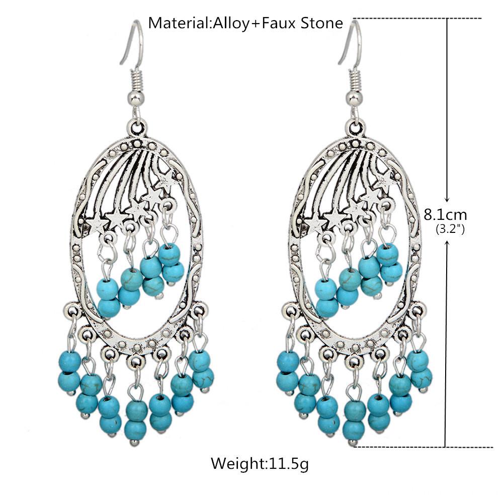 turquoise earrings size