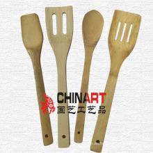 Utensilios de cocina de bambú 4PCS que cocina las herramientas (CB06)
