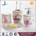 Beautiful nature decals high grade ceramic wedding gift bath sets