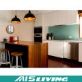 Professional Design Crown Moulding Wood Kitchen Cabinet (AIS-264)