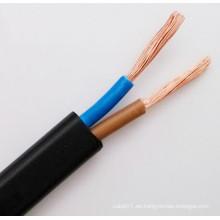 Cable eléctrico flexible de la energía plana 2x1.5mm2