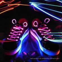 Faseroptische LED blinkende Schuh-Spitze-Bindung für Party-Tanz