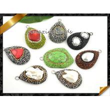 Мода ожерелье камень подвеска, драгоценный камень бисера ювелирные изделия кулон Оптовая (EF094)
