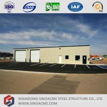 Casa de armazenamento de estrutura de aço pré-fabricada