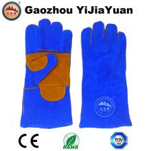Gants de soudure industrielle renforcés Palm Cow Split Leather pour la construction