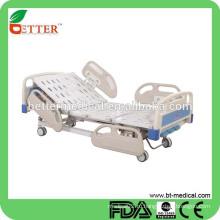 3-функциональная ручная больничная койка с рулевой панелью с боковой стороны для больничной койки