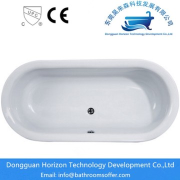 Ellipse shape acrylic bathtub