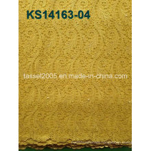 2014 New High Quality African Cord Lace Fabric for T Shirt