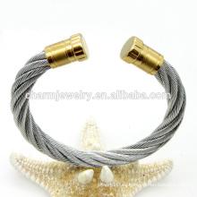 La última manera del diseño torció la pulsera simple GSL009 del brazalete del acero inoxidable