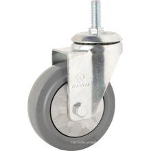 Medium Duty Type Rubber Threaded Stem Caster Wheels (KMx3-M4)