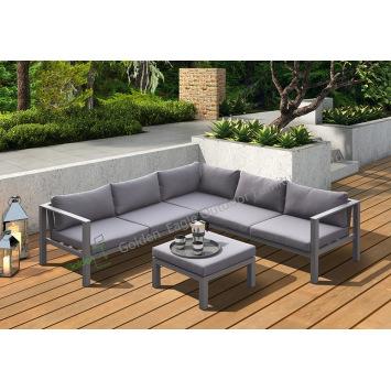 4pcs exposed aluminum garden sofa