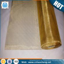 Fabricante en papel de imprenta de China que teclea la malla de alambre de cobre tejida de cobre amarillo del papel