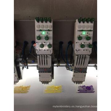 30 cabeza 4 colores máquina de bordado plana