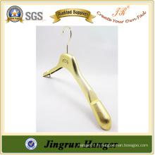 Alibaba Express Gold Plating Tissu Hanger Plastic Jacket Hanger
