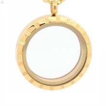 Дешевые искусственные медальон,медальон купол,диффузор locket нержавеющей стали золото