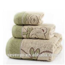 spezielle hellbraune Farbe niedliche Bär Muster Handtuch Sets TS-014
