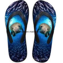 Самые популярные 3D печать повседневный флип-флоп тапочки обувь (FF68-14)