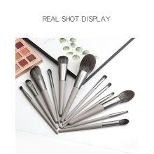 Профессиональный серый набор кисточек для макияжа 12шт