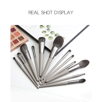 12Pieces Professional Grey Makeup Brush Set logotipo personalizado