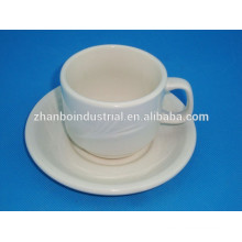 White porcelain coffee cups for cafe, restaurant, hotel, home