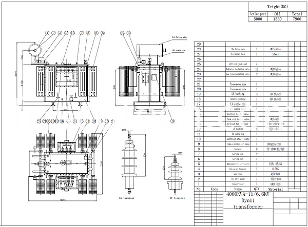4000kva power transformer