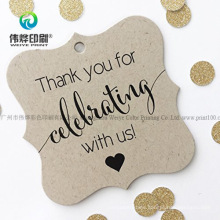 Special Shape 2 High Quality Paper Printing Hang Tag