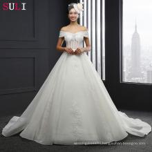 SL-3011 Off The Shoulder Cap Sleeve Lace Wedding Dress