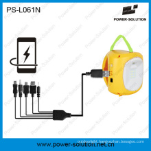 Rechargeable Solar Lantern with USB Mobilephone Charger for Rural Village for Low-Income Family