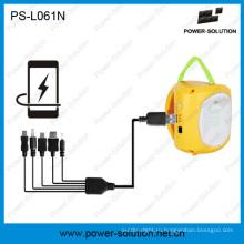 Аккумуляторная Солнечный фонарь с USB зарядное устройство мобильного телефона для сельской местности для семьи с низкими доходами