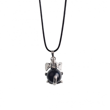 2017 Natural Black Onyx Healing Animal Necklace