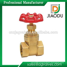 Competitive price high quality 4 inch brass gate valve with red handle for water