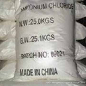 White Powder 99,5% Amonium Chloride (Nº CAS: 12125-02-9) para a classificação da agricultura
