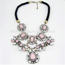 jewelry european pink sakura acrylic beads diffuser multi colored crystal necklace