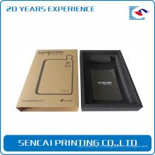Подгонянный упаковывать Жесткий прозрачный коричневый подарочной коробке черный Крафт для телефона