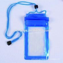 saco de drawstring impermeável de pvc personalizado do telefone móvel