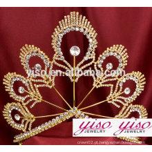Vestido de fantasia personalizado de luxo coroas e tiaras por atacado