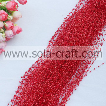 Sparking 3MM Artificial Pearl Garland for Event & Party Supplies Red color