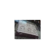 Bandeja de caja de brazalete de reloj de cuero de 6 ranuras blanco exclusivo 6 (TY-6WS)