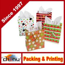 Sacos de presente de Natal alegre (210222)