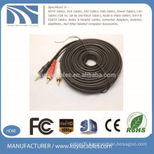 Kuyia Brand Wholesale Audio video 3RCA Cables 5m