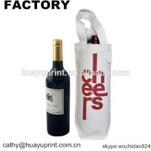 Sac à provisions en toile en coton Sac à bandoulière / bouteille en vinyle