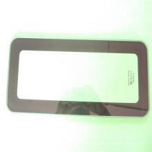 Schwarzer Siebdruck Gehärtetes Glas, Glasregale für Großhändler