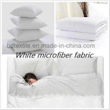 Tecido de microfibra branca, tecido de microfibra branco óptico, tecido de microfibra branco