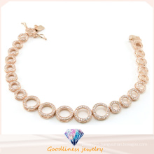 China Factory Price Wholesale Fashion Jewelry Series of Circle Bracelet for Lady Gift 925 Sterling Silver Bracelet Bt6599