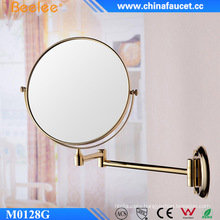 Brass Two Way Golden Wall Mounted Flexible Mirror
