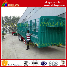 3 Axles Stake Tri-Axle Fence Tansport Semi Trailer Livestock & Farm Goods Carrier Cargo Trailers